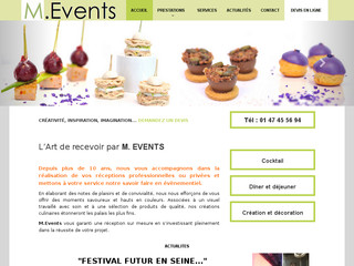 Un traiteur professionnel proche de paris M.Events.