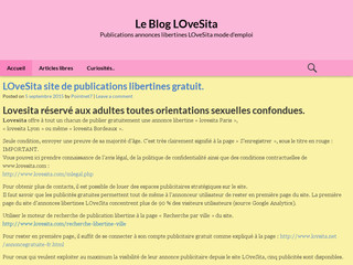 Le blog de Lovesita: le blog officiel du site internet